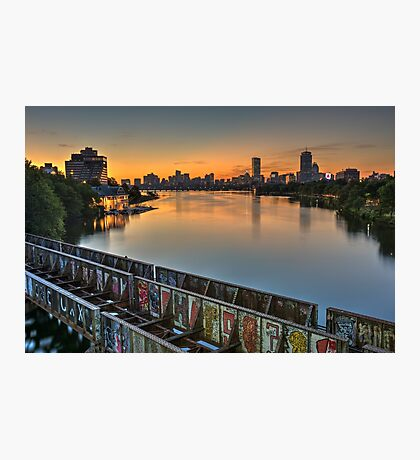Boston's Grand Junction railroad crossing the Charles. Photographic Print