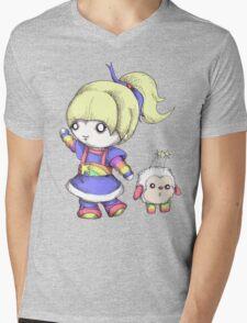 Rainbow Plush Mens V-Neck T-Shirt