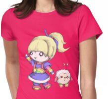Rainbow Plush Womens Fitted T-Shirt