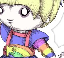 Rainbow Plush Sticker