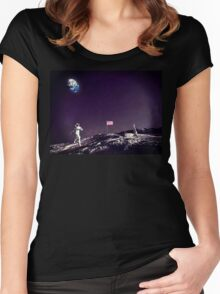 Fun On The Moon Women's Fitted Scoop T-Shirt