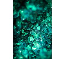 Bold Teal Green Geode Photographic Print