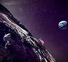 Earth Rise On The Moon by 2HivelysArt