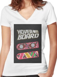 Hoverboard Women's Fitted V-Neck T-Shirt