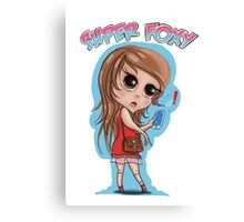 chibi girl foxy lady by jose melendez Canvas Print