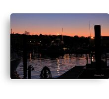 Night Lights on the Water Canvas Print