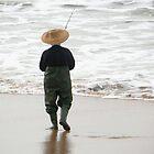 The Lone Fisherman by sandysartstudio