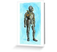 Ghost in armor Greeting Card