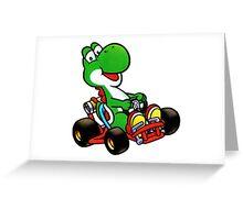 Yoshi karting Greeting Card