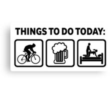 Funny Cycling Things To Do Today Canvas Print