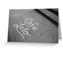 Cafe Lalo Greeting Card