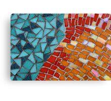 Red or Aqua - JUSTART © Canvas Print
