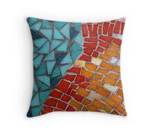 Red or Aqua - JUSTART © Throw Pillow