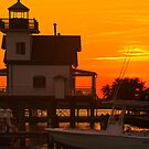 Roanoke River Lighthouse at Sunset by WeeZie