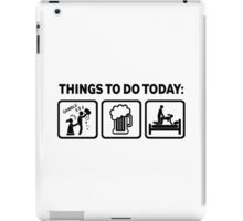 Hilarious Gambling Addict Things To Do Today iPad Case/Skin