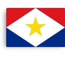 Saba Flag Canvas Print