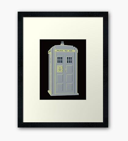 MY MASTERS TARDIS 1 Framed Print
