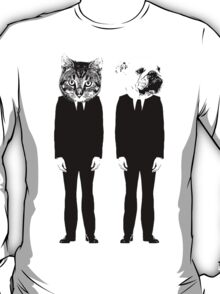 The Cat and Dog Business Men T-Shirt