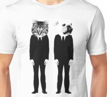 The Cat and Dog Business Men Unisex T-Shirt
