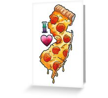 I Love New Jersey Pizza Greeting Card