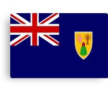 Turks And Caicos Flag Canvas Print
