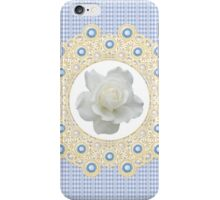 Laces & Rhinestones - Pure White iPhone Case/Skin