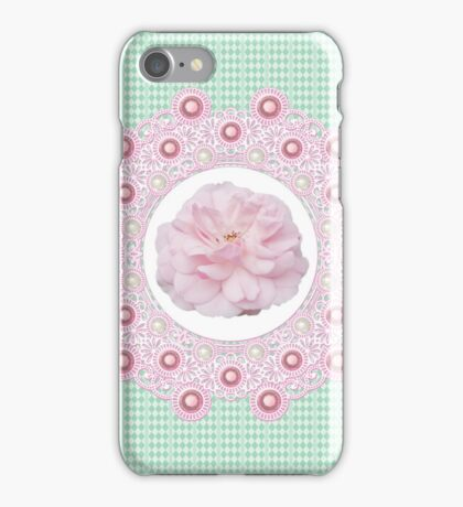 Laces & Rhinestones - Soft Pink iPhone Case/Skin