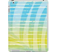 Palm Leaf Shadow on Tropical Striped Screen  iPad Case/Skin