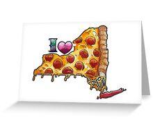 I Love NY Pizza Greeting Card