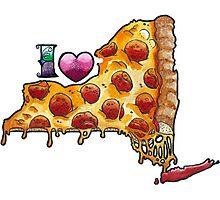 I Love NY Pizza Photographic Print