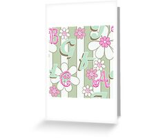 Miracles, ABC. Kids design.  Greeting Card