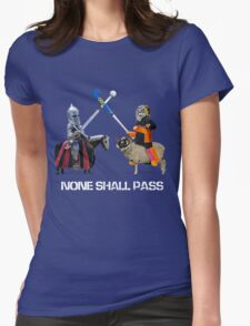 None Shall Pass - White Womens Fitted T-Shirt