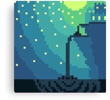 Pixel Night Canvas Print