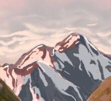 mountain musk Sticker