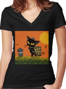 Harvest Women's Fitted V-Neck T-Shirt