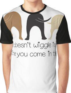 Dog Wiggle Butt Graphic T-Shirt