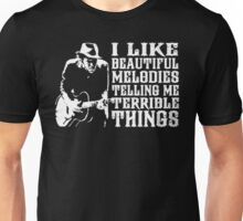 Tom Waits - i like beautiful melodies telling me terrible things Unisex T-Shirt
