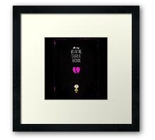 Valentine Charlie Brown Framed Print