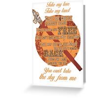 Firefly Ballad of Serenity - Can't Take the Sky Greeting Card