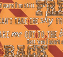 Firefly Ballad of Serenity - Can't Take the Sky Sticker