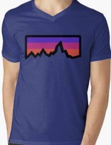 abstract mountain light Mens V-Neck T-Shirt