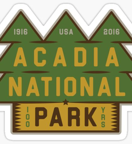 Acadia National Park 100th Birthday Graphic Sticker