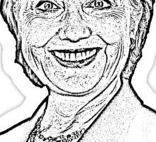 Creepy Hillary Monarchist  Sticker