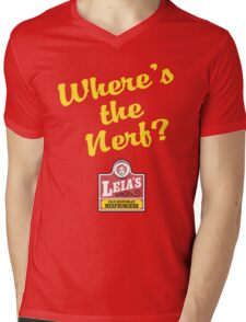 Leias Nerfburgers Mens V-Neck T-Shirt