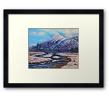 Majestic Rise - Earth tones Framed Print