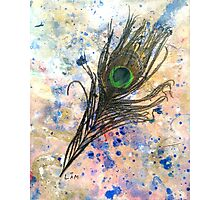 Dancing Peacock 2 'Rain Painting' Photographic Print