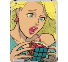 Pop Cube Girl (clean) iPad Case/Skin