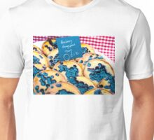 Delicious round blueberry tarts in British market Unisex T-Shirt