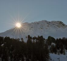 Sundown behind the Mountain by Chris Monks