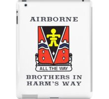 509th Airborne - Brothers in Harm's Way iPad Case/Skin